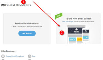 Infusionsoft – Using New Email Builder