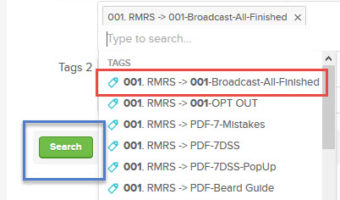 Infusionsoft – How To Export RMRS List of Contacts