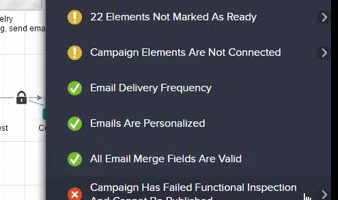 Infusionsoft – Campaign Didn't Pass Functional Inspection