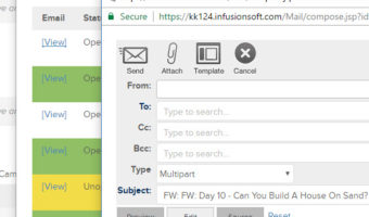Infusionsoft – How To Resend An Email From Sequence