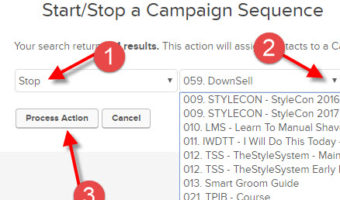 Infusionsoft – How To Stop Email Sequence For A User