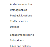 YouTube Analytics: Metrics Definitions