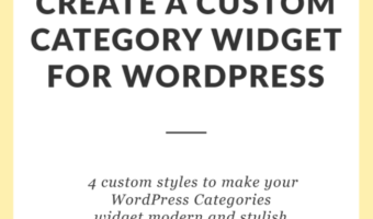 How to Create a Custom Category Widget for WordPress