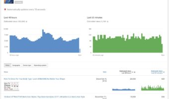 How do we check for real time analytics in Youtube?