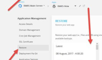 RMRS – Restore Backup