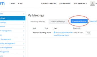 Zoom – How To Schedule Meeting