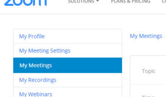 Zoom – How To Schedule A New Meeting